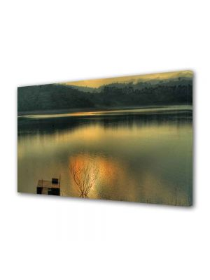 Tablou Canvas Peisaj Apusul in lac
