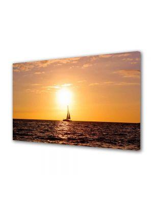 Tablou Canvas Luminos in intuneric VarioView LED Peisaj Corabie cu vele