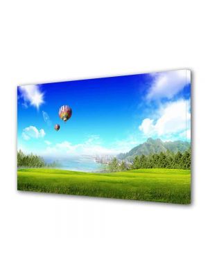 Tablou Canvas Luminos in intuneric VarioView LED Peisaj Balon