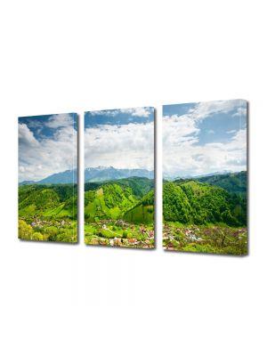 Set Tablouri Multicanvas 3 Piese Peisaj Peste dealuri