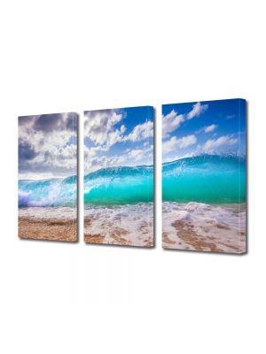 Set Tablouri Multicanvas 3 Piese Peisaj Valul