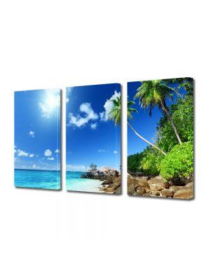 Set Tablouri Multicanvas 3 Piese Peisaj Pe faleza