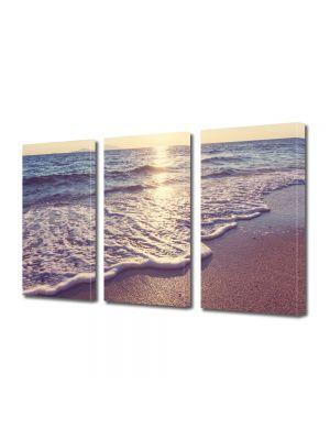 Set Tablouri Multicanvas 3 Piese Peisaj Dimineata pe plaja