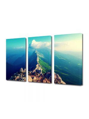 Set Tablouri Multicanvas 3 Piese Peisaj Pe creasta muntelui