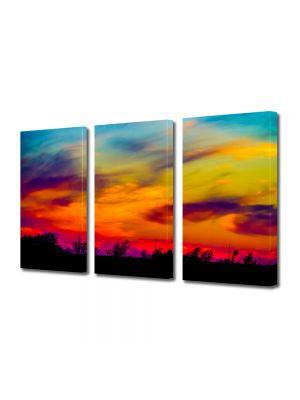 Set Tablouri Multicanvas 3 Piese Peisaj Culorile apusului