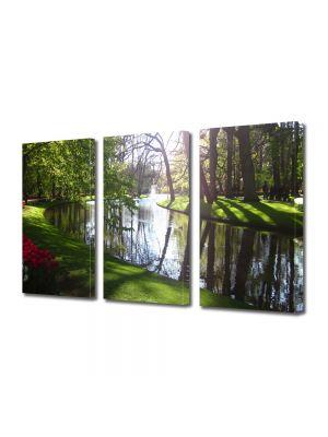 Set Tablouri Multicanvas 3 Piese Peisaj Luciul apei