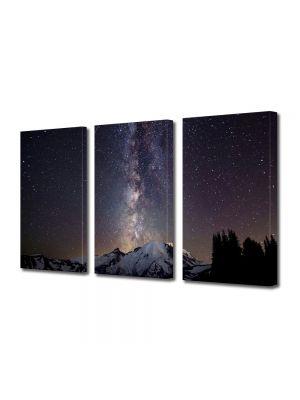 Set Tablouri Multicanvas 3 Piese Peisaj Galaxie