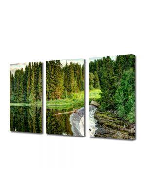 Set Tablouri Multicanvas 3 Piese Peisaj Cascada mare