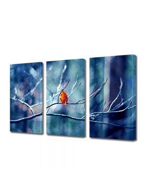 Set Tablouri Multicanvas 3 Piese Peisaj Vine iarna!
