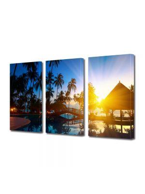Set Tablouri Multicanvas 3 Piese Peisaj Exotic