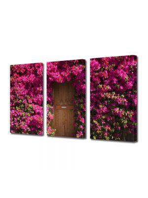 Set Tablouri Multicanvas 3 Piese Peisaj Poarta de flori
