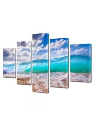 Set Tablouri Multicanvas 5 Piese Peisaj Valul