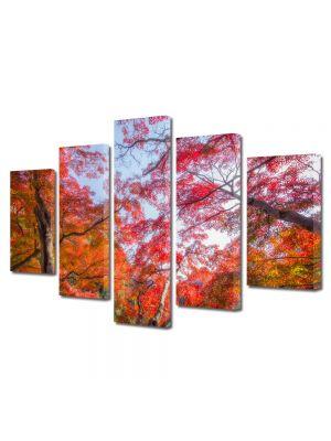 Set Tablouri Multicanvas 5 Piese Peisaj Suprarealism