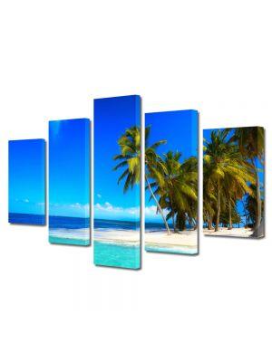Set Tablouri Multicanvas 5 Piese Peisaj La plaja