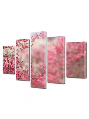 Set Tablouri Canvas 5 Piese Peisaj Pomi fructiferi