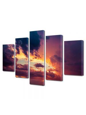 Set Tablouri Canvas 5 Piese Peisaj Cumul de nori