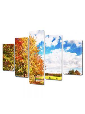 Set Tablouri Multicanvas 5 Piese Peisaj Peisaj de toamna