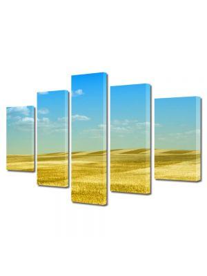 Set Tablouri Multicanvas 5 Piese Peisaj Peisaj galben