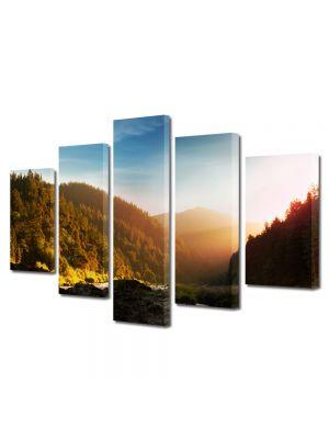Set Tablouri Multicanvas 5 Piese Peisaj In ceata