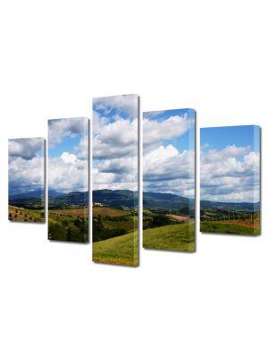 Set Tablouri Multicanvas 5 Piese Peisaj Viata la tara