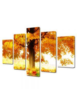 Set Tablouri Canvas 5 Piese Peisaj La umbra copacului