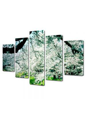Set Tablouri Multicanvas 5 Piese Peisaj Peisaj de primavara