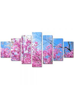 Set Tablouri Multicanvas 7 Piese Peisaj De la roz la albastru
