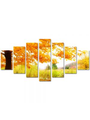 Set Tablouri Multicanvas 7 Piese Peisaj Copac pe malul lacului