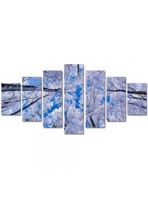 Set Tablouri Multicanvas 7 Piese Peisaj In sus iarna