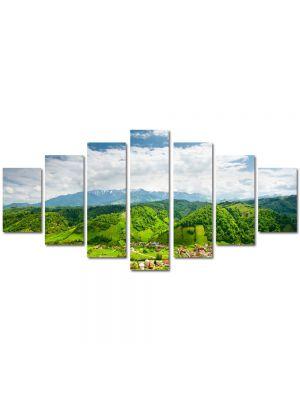 Set Tablouri Multicanvas 7 Piese Peisaj Peste dealuri