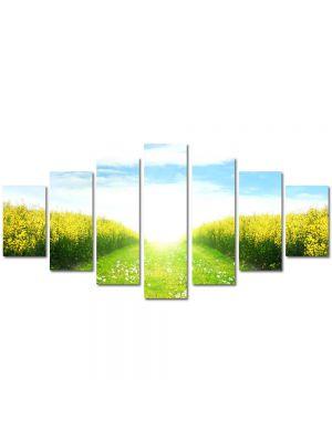 Set Tablouri Multicanvas 7 Piese Peisaj Peste lan