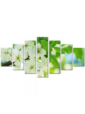Set Tablouri Multicanvas 7 Piese Peisaj Flori inflorite