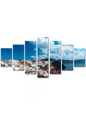 Set Tablouri Multicanvas 7 Piese Peisaj Grecia