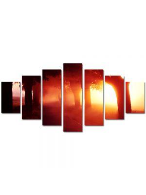 Set Tablouri Multicanvas 7 Piese Peisaj Lumina fantastica