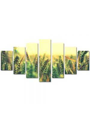 Set Tablouri Multicanvas 7 Piese Peisaj Grau verde