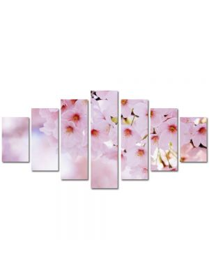 Set Tablouri Multicanvas 7 Piese Peisaj Buchet de flori roz
