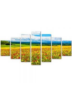 Set Tablouri Multicanvas 7 Piese Peisaj De la pamant la cer