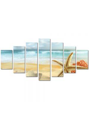 Set Tablouri Multicanvas 7 Piese Peisaj Scoici pe plaja