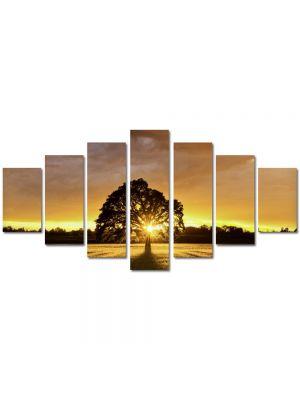 Set Tablouri Multicanvas 7 Piese Peisaj Ascuns dupa copac