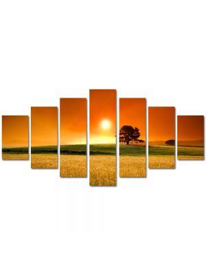 Set Tablouri Multicanvas 7 Piese Peisaj In lanul de secara