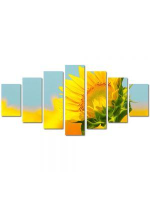 Set Tablouri Multicanvas 7 Piese Peisaj Pui de floarea soarelui