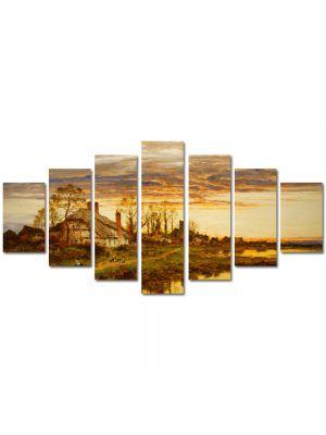 Set Tablouri Multicanvas 7 Piese Peisaj Coliba