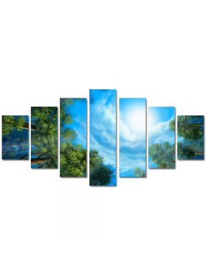 Set Tablouri Multicanvas 7 Piese Peisaj Triunghiul bermudelor