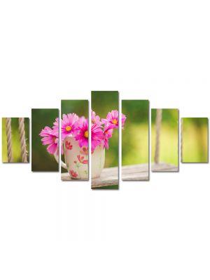 Set Tablouri Multicanvas 7 Piese Peisaj Flori in leagan
