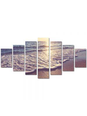 Set Tablouri Multicanvas 7 Piese Peisaj Dimineata pe plaja