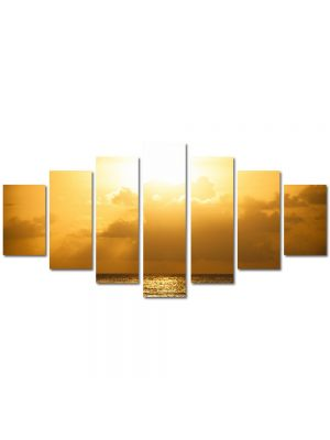 Set Tablouri Multicanvas 7 Piese Peisaj Cer galben