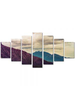 Set Tablouri Multicanvas 7 Piese Peisaj Violet