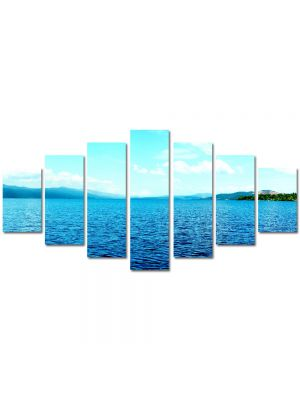 Set Tablouri Multicanvas 7 Piese Peisaj Lac infinit