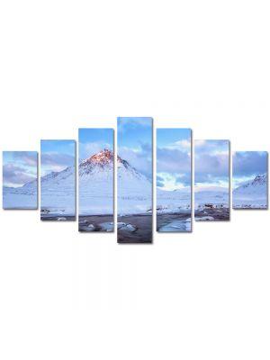 Set Tablouri Multicanvas 7 Piese Peisaj Cel mai inalt munte