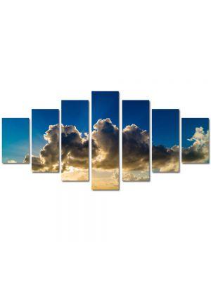 Set Tablouri Multicanvas 7 Piese Peisaj Siluete de nori